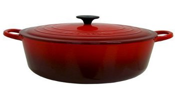 Le Creuset 3.5 quart OVAL DUTCH OVEN, Cherry 