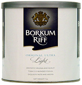 BORKUM RIFF ULTRA LIGHT PREMIUM PIPE TOBACCO 7OZ CAN