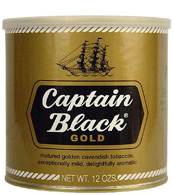 CAPTAIN BLACK GOLD PIPE TOBACCO 12 OZ CAN