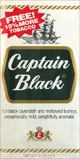 CAPTAIN BLACK PIPE TOBACCO 1.5OZ PACKAGES 6CT.