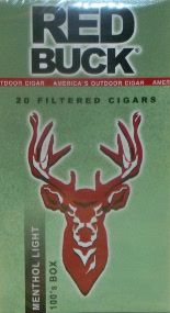 RED BUCK LITTLE CIGARS  - MENTHOL LIGHT 100's BOX