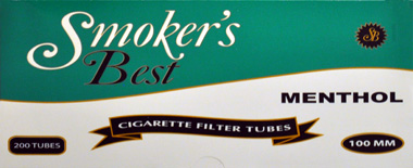 Smokers Best Menthol 100 Tubes 200ct