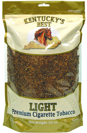 KENTUCKY'S BEST LIGHT CIGARETTE TOBACCO 1LB BAG