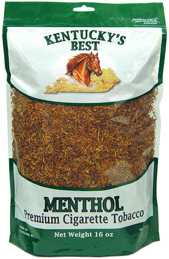 KENTUCKY'S BEST MENTHOL CIGARETTE TOBACCO 1LB BAG