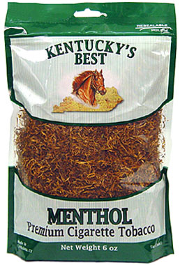KENTUCKY'S BEST MENTHOL CIGARETTE TOBACCO 6OZ BAG