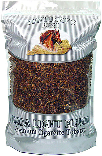 KENTUCKY'S BEST ULTRA LIGHT CIGARETTE TOBACCO 1LB BAG