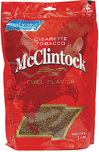 McCLINTOCK FULL FLAVOR CIGARETTE TOBACCO 1LB BAG 