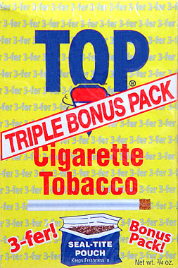 TOP CIGARETTE TOBACCO 12CT - POUCHES - PROMOTIONAL