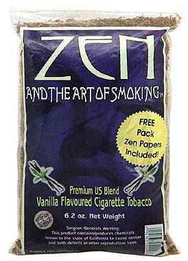 ZEN VANILLA FLAVOURED CIGARETTE TOBACCO 6.2 OZ