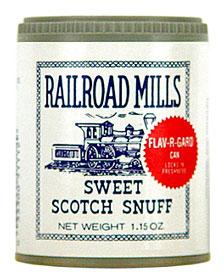 RAILROAD MILLS SWEET SCOTCH SNUFF 12CT.