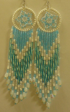Turquoise Dream Catcher Earings 
