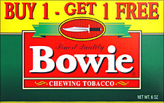 BOWIE CHEWING TOBACCO 12CT BOX-PROMOTIONAL CARTON - Smokes-Spirits com