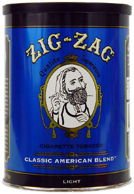 Zig zag light blend tobacco 6oz can smokes for American classic lighting