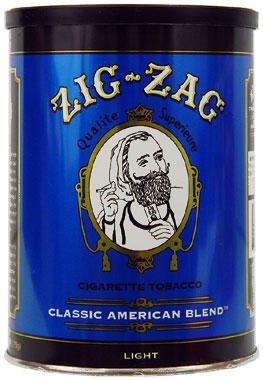 Zig zag light blend tobacco 6oz can smokes for American classic lighting