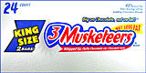3 Musketeers - King Size 24CT Box