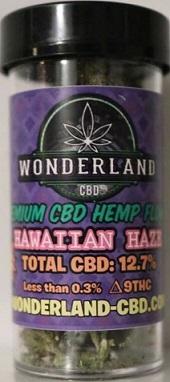 WONDERLAND CBD HEMP FLOWER HAWAIIAN HAZE 3.5GRAMS